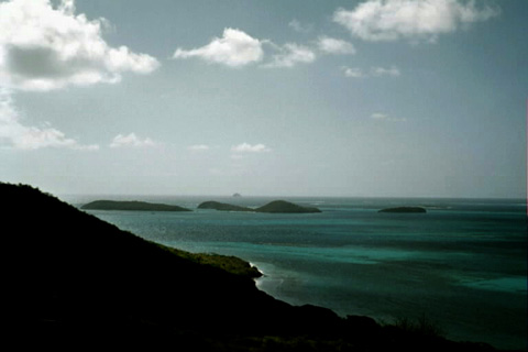 Looking toward the Tobaygo Cays from the top of Mayreau