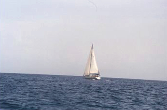 Sailing toward St. Vincent
