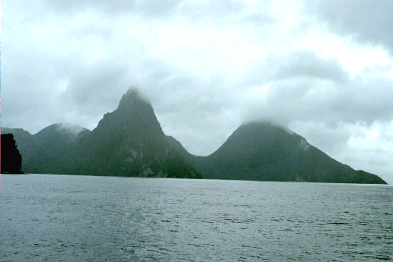 Approaching The Pitons from the North