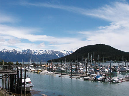 Crowded harbor at Haines, Alaska