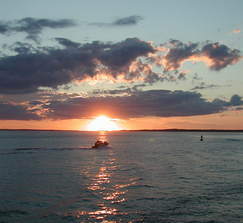 Sunset off West Chop