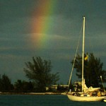 Rainbow in Chub Cay Anchorage