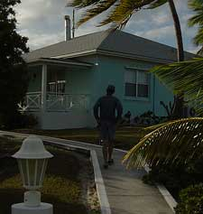Harry trespassing at the owners (of the island) house