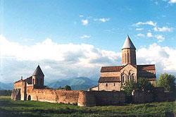 With the hills of Chechnya in the background, Alaverdi is the tallest of all Georgian cathedrals.