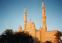 Sun-lit mosque