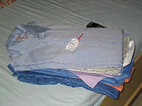 Folded Laundry (notice the tag)