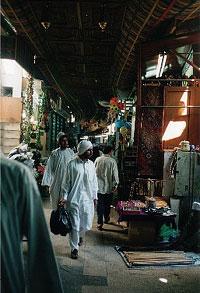 Shoppers at a souk