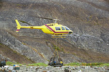 Helicopter portage of Turnback Canyon