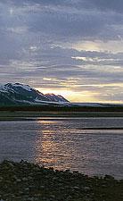 A sunrise on the Alsek