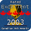 Canadian Web Awards! 2003 Canadian Web Award