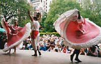 Traditional dancers at a Latin heritage festival