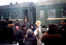 Crowds on Platform