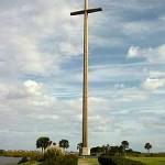 Huge cross on city point