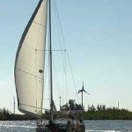Felicity sailing down the ICW