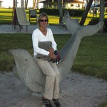 Jen on dolphin in Vero Beach